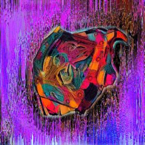 richard mille watch art purple